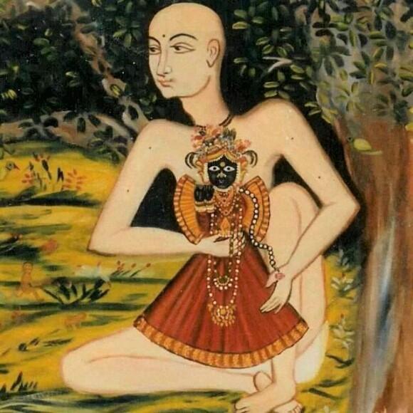 Swami Haridas and Bankey Bihari ji